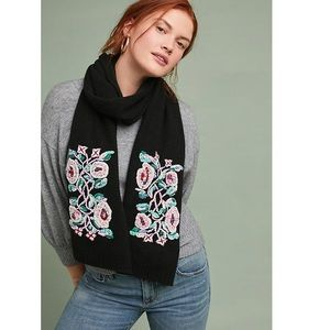 Anthropologie Twisted Vines Wool Scarf